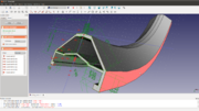 Screenshot of 'FreeCAD' constraints-based parametric sketcher module