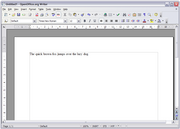 OpenOffice.org Writer(word processor)