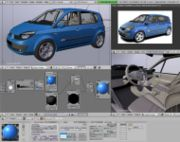 Renault rendered in Blender 3D modelling software