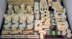Parts printed from a RepRap