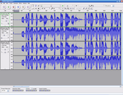 Audacity digital audio editing